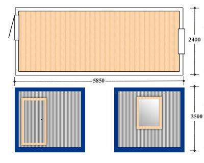 Блок контейнер, Металлические бытовки, БК-01