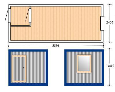 Блок контейнер, Металлические бытовки, БК-02