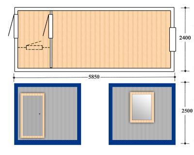 Блок контейнер, Металлические бытовки, БК-02-1