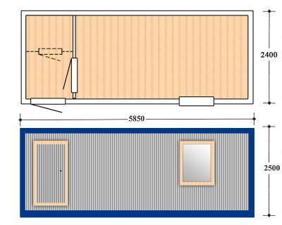 Блок контейнер, Металлические бытовки, БК-02-2
