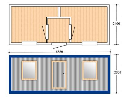 Блок контейнер, Металлические бытовки, БК-03-1