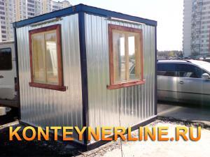 Блок контейнер, Металлические бытовки, БК-08 пост охраны