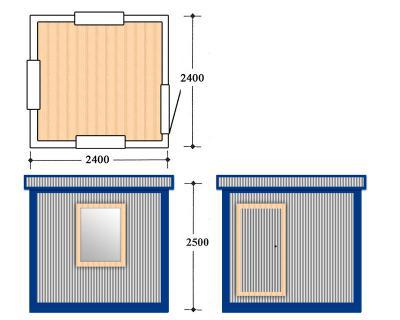 Блок контейнер, Металлические бытовки, БК-08-03 пост охрани